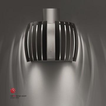Vestavné spotřebiče - Falmec PRESTIGE DESIGN Wall - nástěnný odsavač, šířka 65 cm, černé sklo/nerez, 800 m3