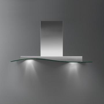 Vestavné spotřebiče - Falmec ONDA VETRO DESIGN Wall - nástěnný odsavač, šířka 90 cm, 800 m3/h