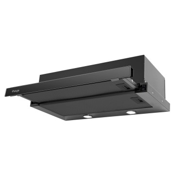 Vestavné spotřebiče - Kluge KOT6004BLG vestavný výsuvný odsavač par, šířka 60 cm, černá