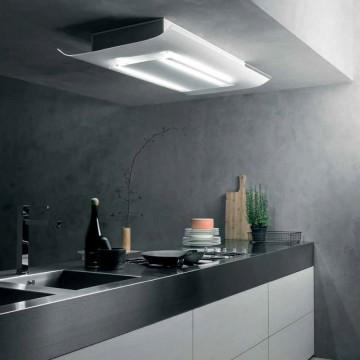Vestavné spotřebiče - Falmec CIELO DESIGN Ceiling - stropní odsavač, šířka 120 cm, bílé sklo, 600 m3/h