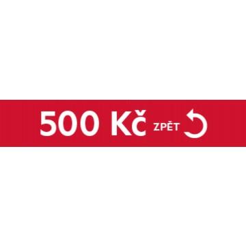 Dárky - Cashback 500 Kč zpět