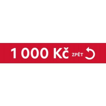 Dárky - Cashback 1000 Kč zpět