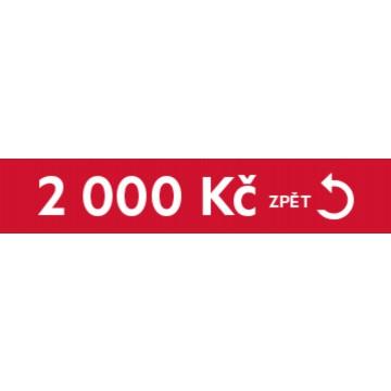Dárky - Cashback 2000 Kč zpět