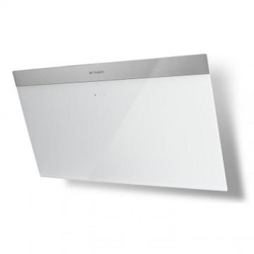 Vestavné spotřebiče - Faber DAISY_B EG6 WH A80  - komínový odsavač, nerez / bílé sklo s nerez páskem, šířka 80cm