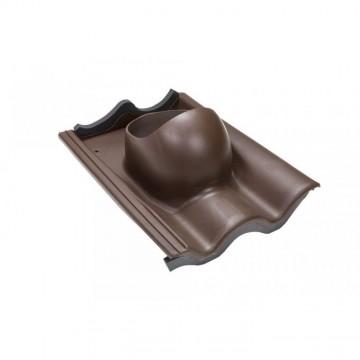 Příslušenství ke spotřebičům - Faber Střešní průchodka pro tašku beton hnědá RAL 8017