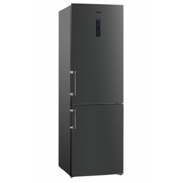 Volně stojící spotřebiče - Lord C4 Volně stojící kombinovaná chladnička, NoFrost, černý nerez, A++ - 5 let záruka