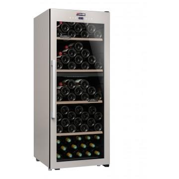 Volně stojící spotřebiče - Climadiff CLS110MT Dvouzónová volně stojící vinotéka, kapacita 110 lahví, barva antracitově šedá