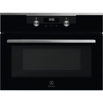 Vestavné spotřebiče - Electrolux KVKDE40X 600 FLEX Quick&Grill kompaktní vestavná mikrovlnná trouba, černá/nerez