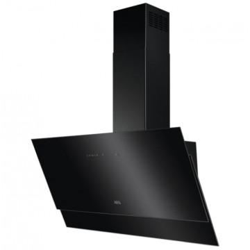 Vestavné spotřebiče - AEG Mastery DVE5971HB nástěnný komínový odsavač, Hob2Hood, černý, 90 cm