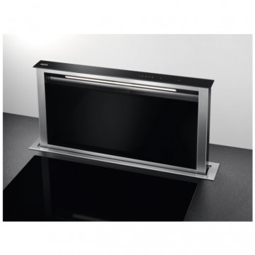 Vestavné spotřebiče - AEG Mastery DDE5960B odsavač výsuvný z pracovní desky, nerez/černé sklo, šířka 90cm
