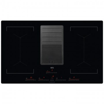 Vestavné spotřebiče - AEG Mastery IDK84453IB COMBOHOB odsavač par integrovaný do indukční varné desky, BRIDGE, šířka 80 cm, možnost zapustit do roviny