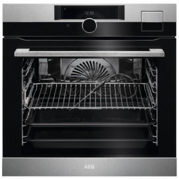 Vestavné spotřebiče - AEG Mastery BSK999330M CookView kombinovaná parní trouba, SousVide, Wifi, kamera, otočný dotykový ovladač, černá/nerez, A++