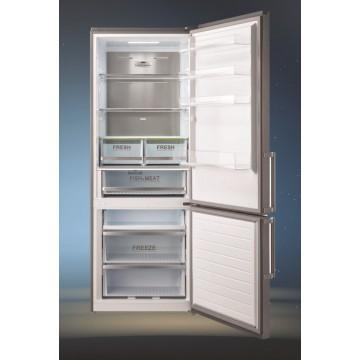 Volně stojící spotřebiče - Lord C11 volně stojící kombinovaná chladnička, NoFrost, šířka 70cm, nerez, 5 let záruka