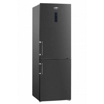 Volně stojící spotřebiče - Lord C8 volně stojící kombinovaná chladnička, NoFrost, černý nerez, 5 let záruka