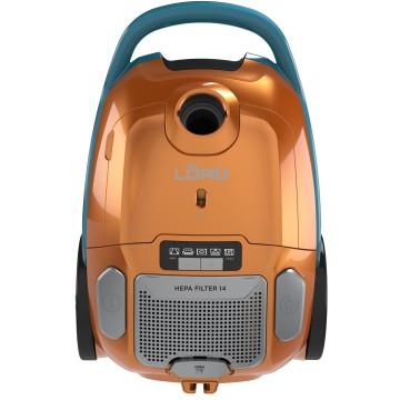 Malé domácí spotřebiče - Lord V2 vysavač sáčkový, 800W, oranžová/petrolejová, 5 let záruka