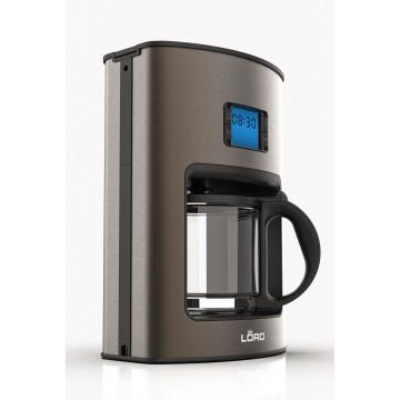 Malé domácí spotřebiče - Lord N1 kávovar na filtrovanou kávu / překapávač, barva mokka, 5 let záruka