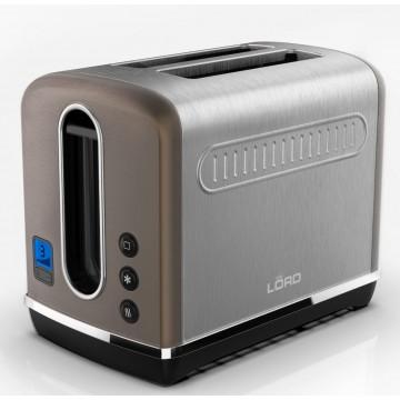 Malé domácí spotřebiče - Lord P1  topinkovač, mokka/nerezová ocel, 5 let záruka