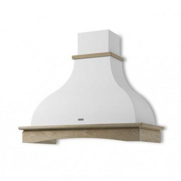 Vestavné spotřebiče - Faber WEST WH A90 s rámem  - rustikální odsavač, bílá, šířka 90cm
