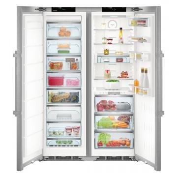Volně stojící spotřebiče - Liebherr SBSes 8773 BluPerformance, americká lednice, BioFresh, NoFrost, nerez, A+++