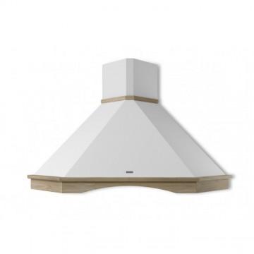 Vestavné spotřebiče - Faber RANCH ANGOLO WH A100 s rámem  - rustikální rohový odsavač, bílá, šířka 90cm