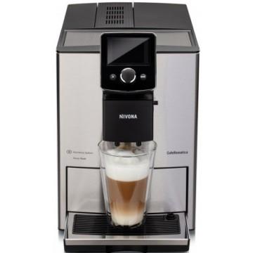 Malé domácí spotřebiče - Nivona NICR 825 automatický kávovar, Nerez přední strana s chromovanými doplňky