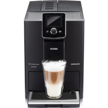 Malé domácí spotřebiče - Nivona NICR 820 automatický kávovar, Černá přední strana s chromovanými doplňky