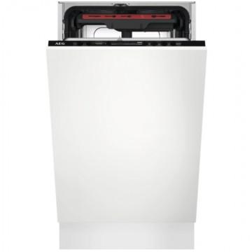 Vestavné spotřebiče - AEG Mastery FSE73517P vestavná myčka nádobí s příborovou zásuvkou, vnitřní osvětlení, 45 cm, A+++