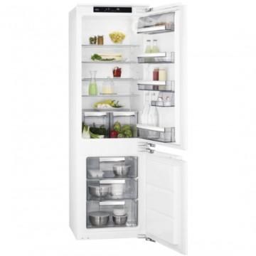Vestavné spotřebiče - AEG Mastery SCE818D3LC vestavná kombinovaná chladnička, pevné panty