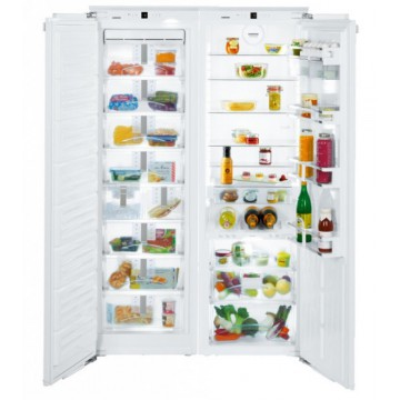 Vestavné spotřebiče - Liebherr SBS 70I4 vestavná chladnička/mraznička Side-by-Side s technologií BioFresh, NoFrost, IceMaker s připojením na vodovod
