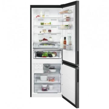 Volně stojící spotřebiče - AEG Mastery RCB646E3MB volně stojící kombinovaná chladnička, NoFrost, Icematic, černý nerez