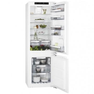 Vestavné spotřebiče - AEG Mastery SCE818E6TF vestavná kombinovaná chladnička, NoFrost, pevné panty