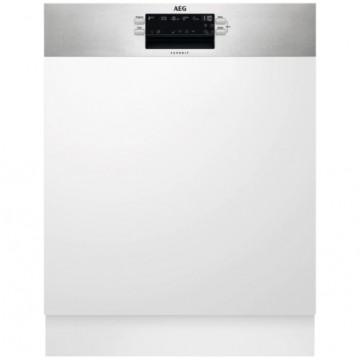 Vestavné spotřebiče - AEG Mastery FES5395XZM vestavná myčka nádobí s panelem, příborová zásuvka, 60 cm