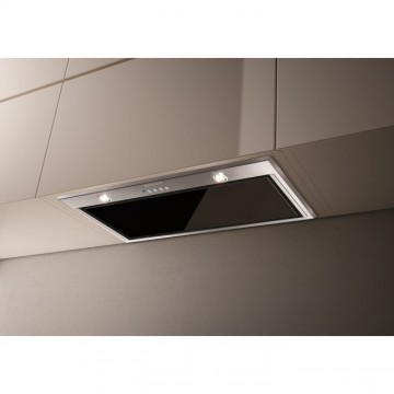 Vestavné spotřebiče - Faber INCA LUX GLASS EV8 X/BK KL A52  - vestavný odsavač, nerez / černé sklo, šířka 52cm