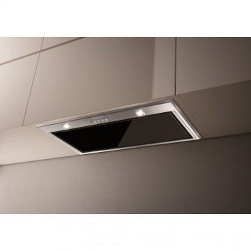 Vestavné spotřebiče - Faber INCA LUX GLASS EV8 X/BK KL A70  - vestavný odsavač, nerez / černé sklo, šířka 70cm