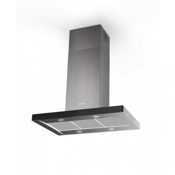 Vestavné spotřebiče - Faber STILO GLASS SMART ISOLA X/BK A90  - ostrůvkový odsavač, nerez / černé sklo, šířka 90cm
