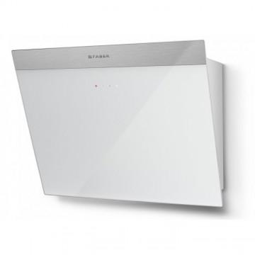 Vestavné spotřebiče - Faber DAISY PLUS WH A55  - komínový odsavač, nerez / bílé sklo s nerez páskem, šířka 55cm
