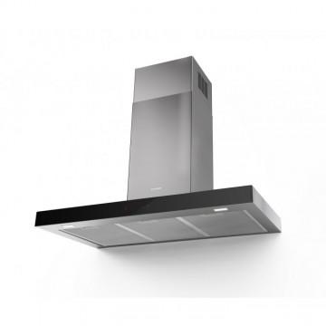 Vestavné spotřebiče - Faber STILO GLASS SMART X/BK A90  - komínový odsavač, nerez / černé sklo, šířka 90cm
