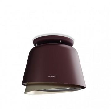 Vestavné spotřebiče - Faber BELLE PLUS BURGUNDY/GOLD KL  - lustrový odsavač, burgundská červeň / teplá titanová, šířka 70cm