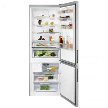 Volně stojící spotřebiče - Electrolux LNT7ME46X2 volně stojící kombinovaná chladnička, NoFrost, šířka 70 cm, nerez