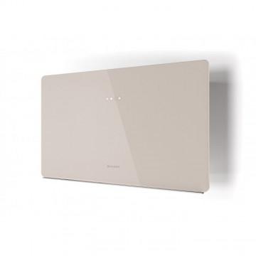 Vestavné spotřebiče - Faber GLAM FIT ZERO DRIP SAND A80  - komínový odsavač, bílá / pískové sklo mat s transparentním okrajem, šířka 80cm