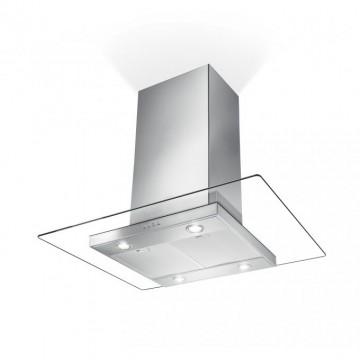 Vestavné spotřebiče - Faber GLASSY ISOLA NS EV8 X/V A90  - ostrůvkový odsavač, nerez / sklo, šířka 90cm