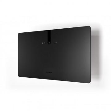 Vestavné spotřebiče - Faber GLAM FIT ZERO DRIP PLUS BK MATT A80  - komínový odsavač, černá / černé sklo mat s transparentním okrajem, šířka 80cm