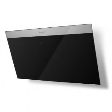 Vestavné spotřebiče - Faber DAISY PLUS BK A80  - komínový odsavač, nerez / černé sklo s nerez páskem, šířka 80cm