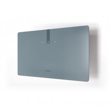 Vestavné spotřebiče - Faber GLAM FIT ZERO DRIP PLUS DB MATT A80  - komínový odsavač, bílá / popelavě modré sklo s transparentním okrajem, šířka 80cm