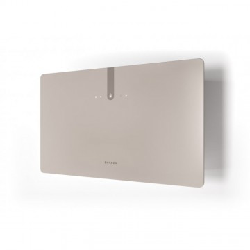 Vestavné spotřebiče - Faber GLAM FIT ZERO DRIP PLUS SAND MATT A80  - komínový odsavač, bílá / pískové sklo mat s transparentním okrajem, šířka 80cm