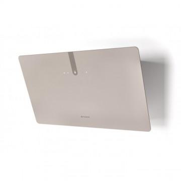 Vestavné spotřebiče - Faber GLAM LIGHT ZERO DRIP PLUS SAND A80  - komínový odsavač, bílá / pískové sklo mat s transparentním okrajem, šířka 80cm