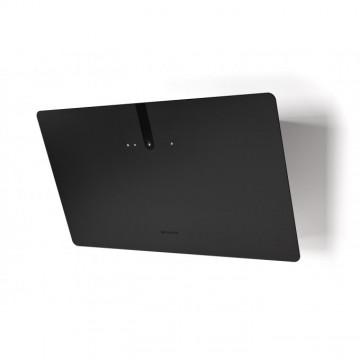 Vestavné spotřebiče - Faber GLAM LIGHT ZERO DRIP PLUS BK A80  - komínový odsavač, černá / černé sklo mat s transparentním okrajem, šířka 80cm