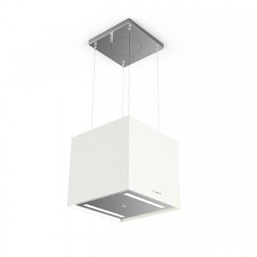 Vestavné spotřebiče - Faber SOFT CUBE BIANCO KOS F40  - lustrový odsavač, FENIX NTM bílá mat, šířka 41cm