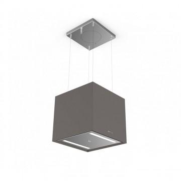 Vestavné spotřebiče - Faber SOFT CUBE GRIGIO LONDRA F40  - lustrový odsavač, FENIX NTM šedá mat, šířka 41cm