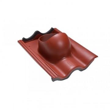 NOV - Faber Střešní průchodka pro tašku beton červená červená RAL 3009